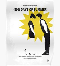 No500- 500 Days Of Summer minimal movie poster Poster