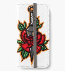 Naruto Konoha Kunai Through Rose iPhone Wallet/Case/Skin