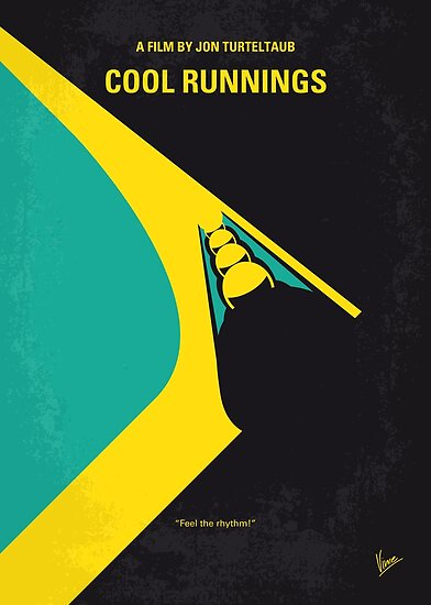 No538- COOL RUNNINGS minimales Filmplakat von ChungKong Art