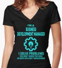 BUSINESS DEVELOPMENT MANAGER   NICE DESIGN 2017 Womenu0027s Fitted V Neck  T Shirt