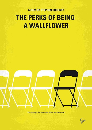 No575- Perks of Being a Wallflower minimal movie poster by ChungKong Art