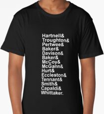 The Doctors - Hartnell to Whittaker Long T-Shirt