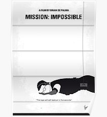No583- Mission Impossible minimal movie poster Poster
