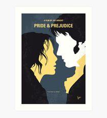 No584- Pride and Prejudice minimal movie poster Art Print