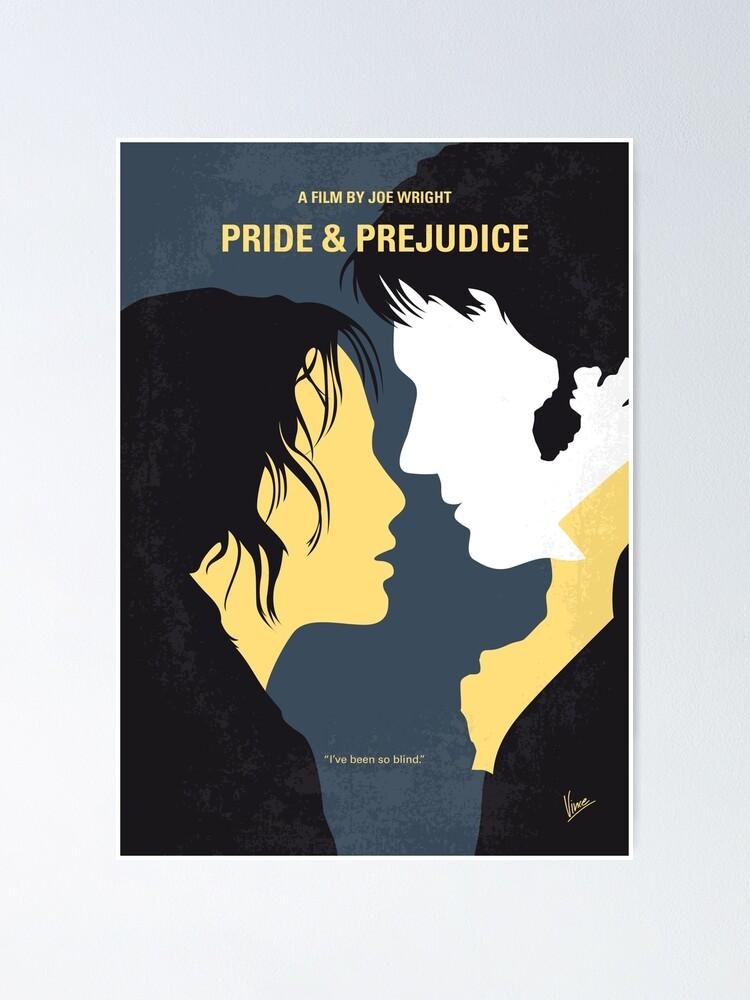Alternate view of No584- Pride and Prejudice minimal movie poster Poster