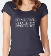 Someone Stole My Sweetroll Women's Fitted Scoop T-Shirt
