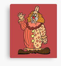 Clown Waving Canvas Print