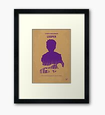 No636- Looper minimal movie poster Framed Print
