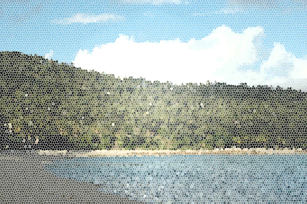 Stainglass Beach Veiw by Meg Keamy