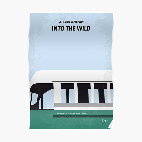 No677 - Affiche du film minimal d'Into the Wild Poster