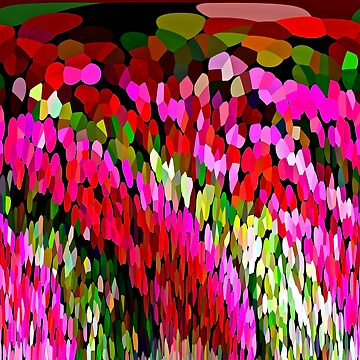 Color Burst Floral Abstract by Overthetopsm