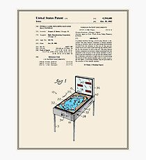 Pinball Machine Patent - Colour Photographic Print
