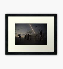 Great Game of Basketball Framed Print