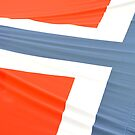 Norwegian flag abstract by stuwdamdorp