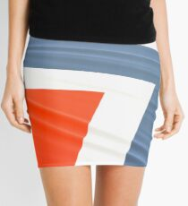 Norwegian flag abstract Mini Skirt