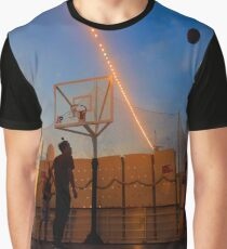Basketball Game by the Sunset Graphic T-Shirt