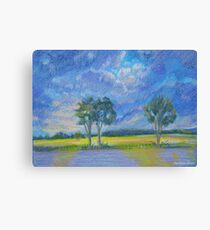 In the fields - after the rain Canvas Print