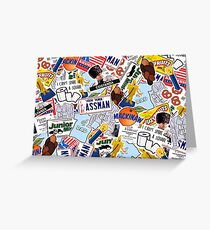 Seinfeld Collage Greeting Card