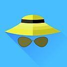 Straw Hat and Glasses by valeo5