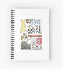 La La Land Illustration Jazz Saxophone Music Musical  Spiral Notebook