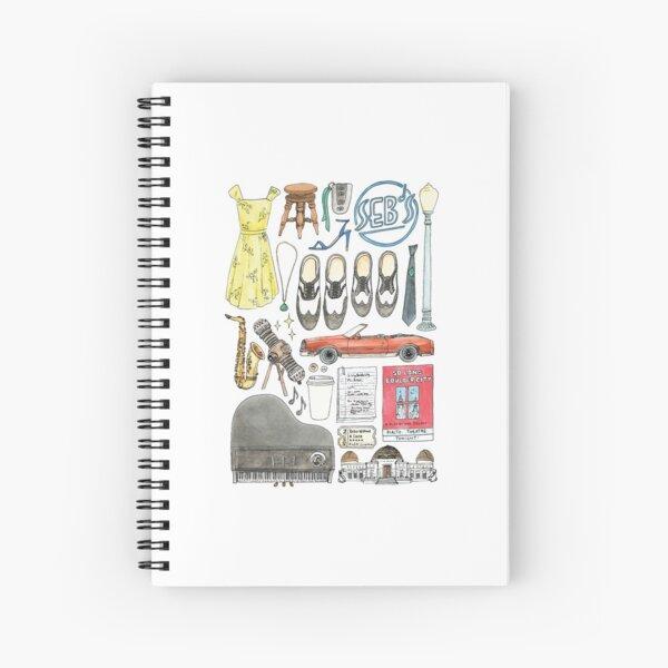La La Land Illustration Jazz Saxophone Music Musical  Spiral Notebook
