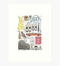 La La Land Illustration Jazz Saxophone Music Musical  Art Print