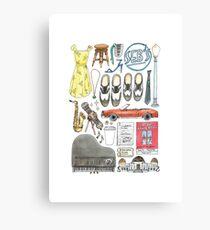 La La Land Illustration Jazz Saxophone Music Musical  Canvas Print