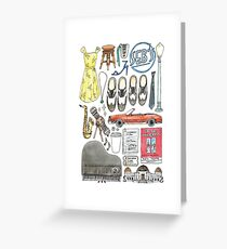 La La Land Illustration Jazz Saxophone Music Musical  Greeting Card