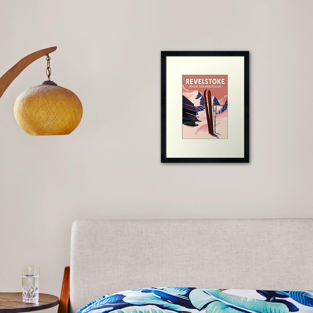 Revelstoke  British Columbia, Canada Ski poster Framed Art Print