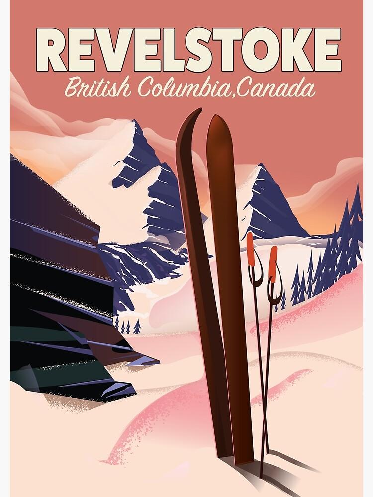 Revelstoke  British Columbia, Canada Ski poster by vectorwebstore