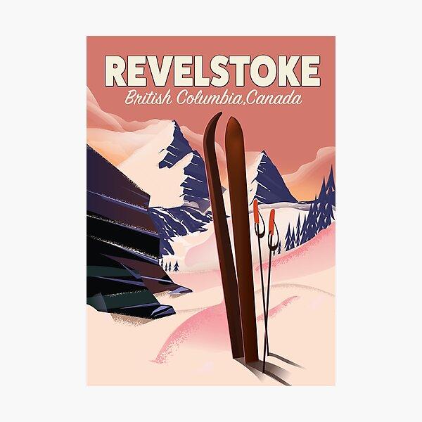 Revelstoke  British Columbia, Canada Ski poster Photographic Print