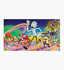 Rick and Morty character compilation  Photographic Print