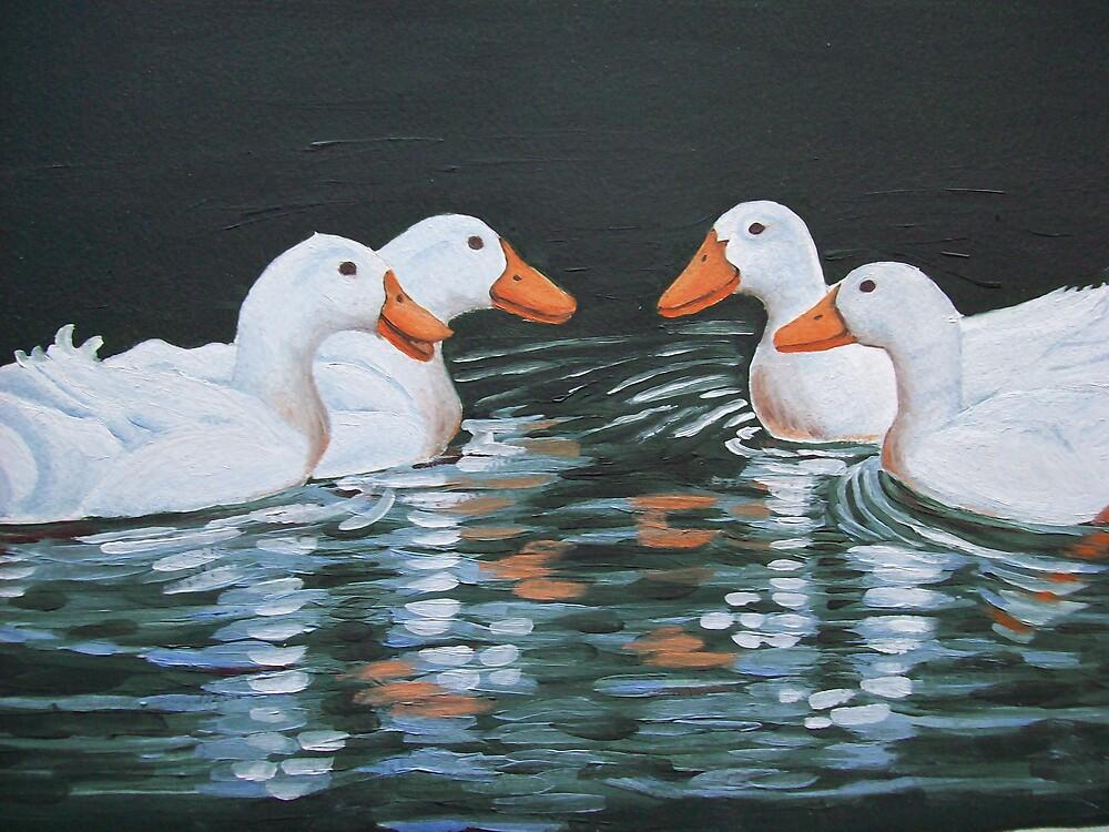 Ducks meet oil painting by coolart