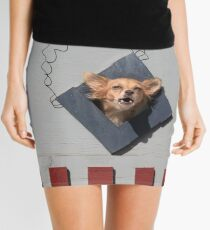 C1. Dog Abstract Art. Mini Skirt