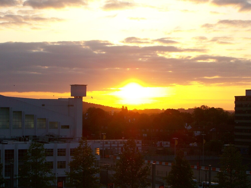 picture of sunset taken from wembley by aeron0711