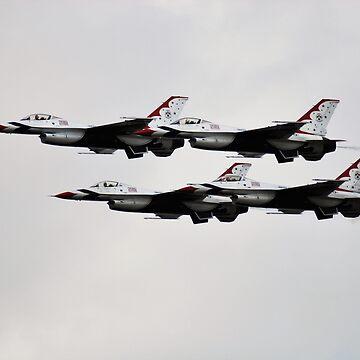 USAF THUNDERBIRDS DEMONSTRATION TEAM by santoshputhran