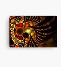 Red Gold Cave Canvas Print