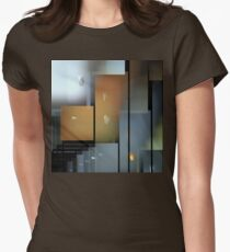 Gray Skyscrapers Womens Fitted T-Shirt