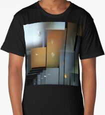 Gray Skyscrapers Long T-Shirt