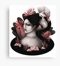 Woman in her bath Canvas Print
