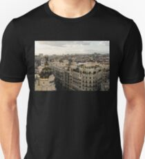 Madrid from Above - a Cityscape with Gran Via and the Famous Metropolis Building T-Shirt