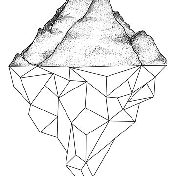 geometric mountain by LMatthewsDesign