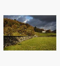 Dry Stone Wall and Barn Landscape Photographic Print