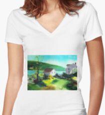 Lake Houses Women's Fitted V-Neck T-Shirt