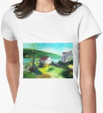 Lake Houses Womens Fitted T-Shirt