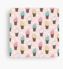 Ice Cream sweet treat dessert pattern by andrea lauren  Canvas Print