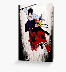 Naruto Fight Greeting Card