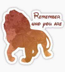 Pegatina Recuerda quién eres Silueta inspirada en el león