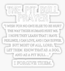 The Pit Bull Prayer Sticker