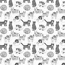 Niedliche Katzenliebhabergeschenke des Katzenmusters durch Andrea Lauren von Andrea Lauren